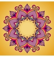 Ornamental round lace pattern is like mandala vector