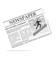 Newspaper icon vector