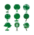 Set of decorative trees for design vector
