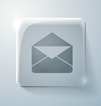 Postal envelope glass square icon vector