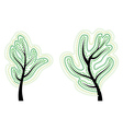 Tree with abstract green leaves vector