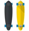 Flat of oval longboards vector