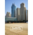 Blurred day beach and city background vector