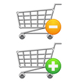 Shoppingcart and button vector