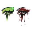 Carnival vampire eyes vector