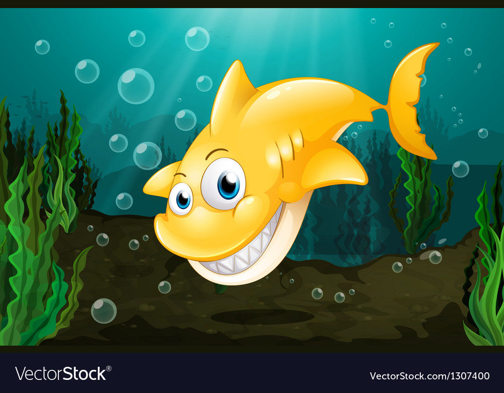 A big yellow shark vector | Price: 1 Credit (USD $1)