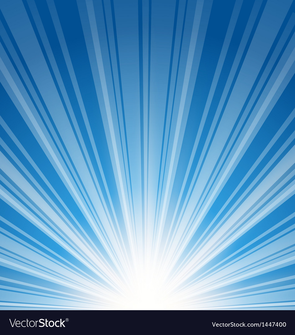 Abstract blue background with sunbeam vector | Price: 1 Credit (USD $1)