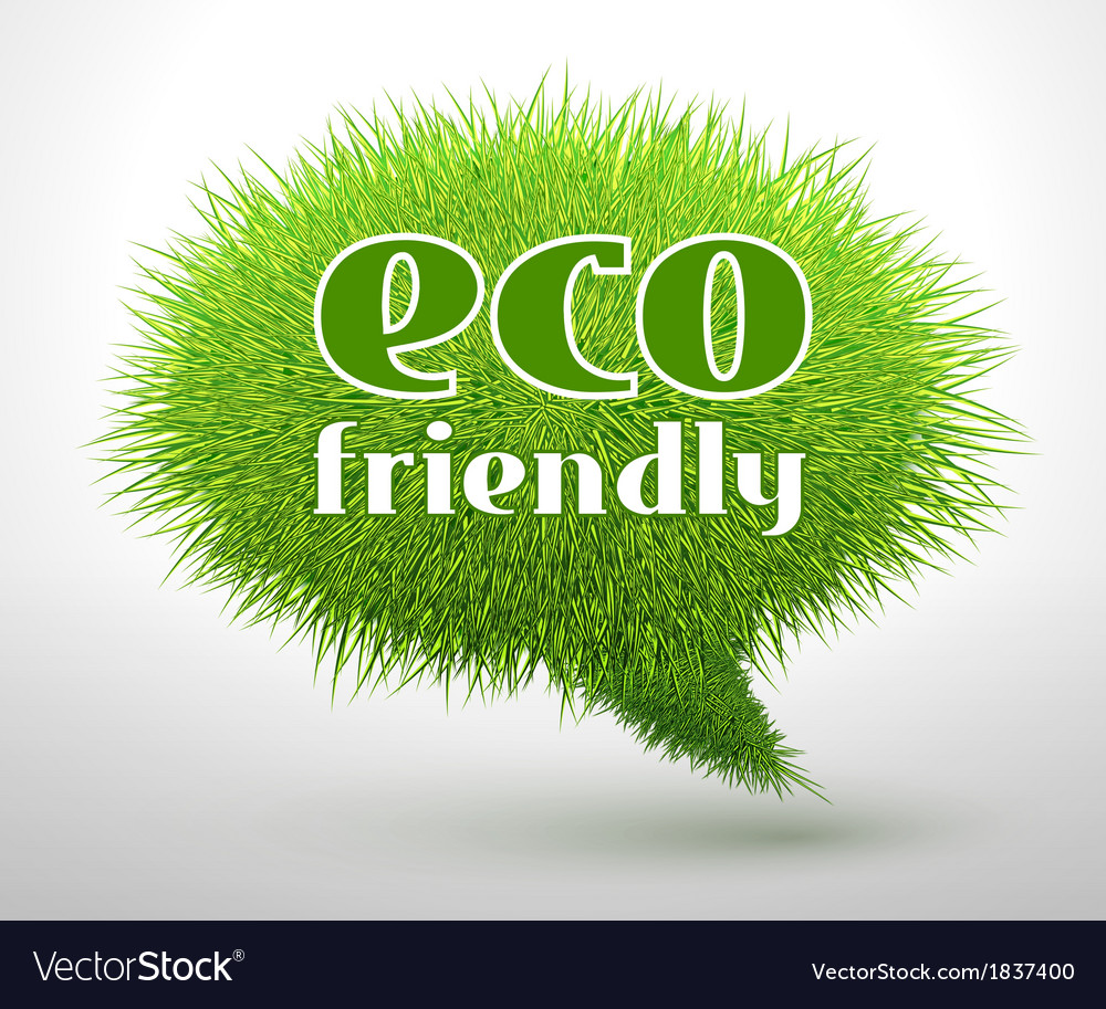 Eco friendly concept or emblem vector | Price: 1 Credit (USD $1)