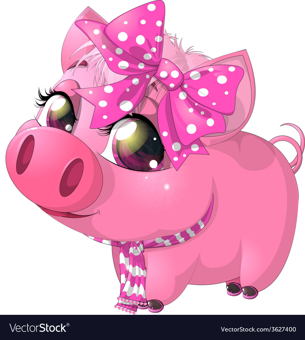 Glamour pig vector | Price: 3 Credit (USD $3)