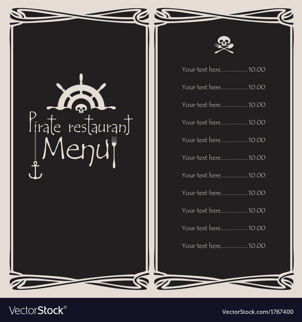 Pirate menu vector | Price: 1 Credit (USD $1)