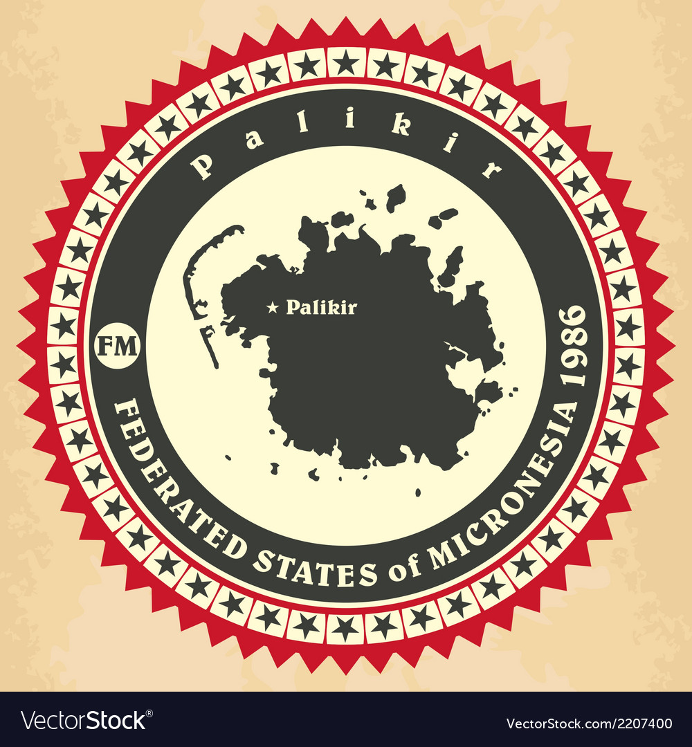 Vintage label-sticker cards of federated states of vector | Price: 1 Credit (USD $1)
