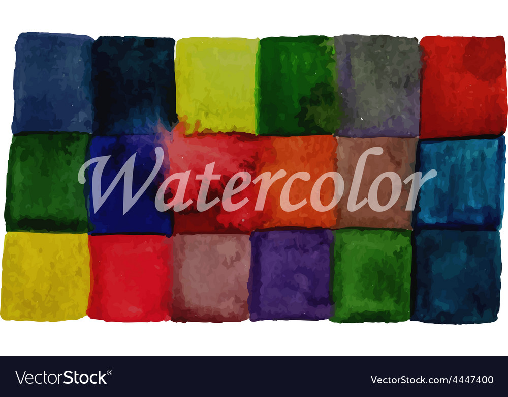 Watercolor checked background vector | Price: 1 Credit (USD $1)