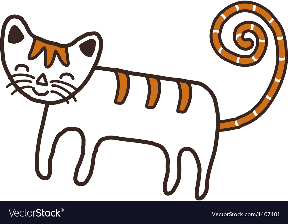 A cat is standing vector | Price: 1 Credit (USD $1)