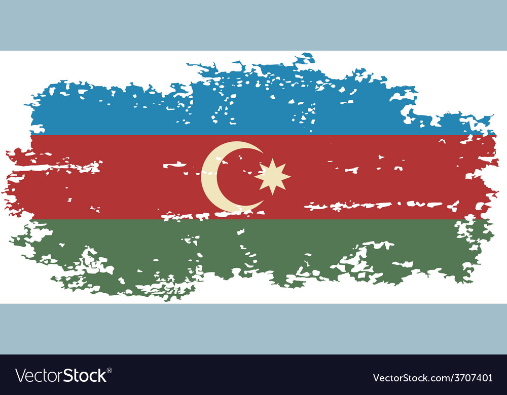 Azerbaijani grunge flag vector | Price: 1 Credit (USD $1)