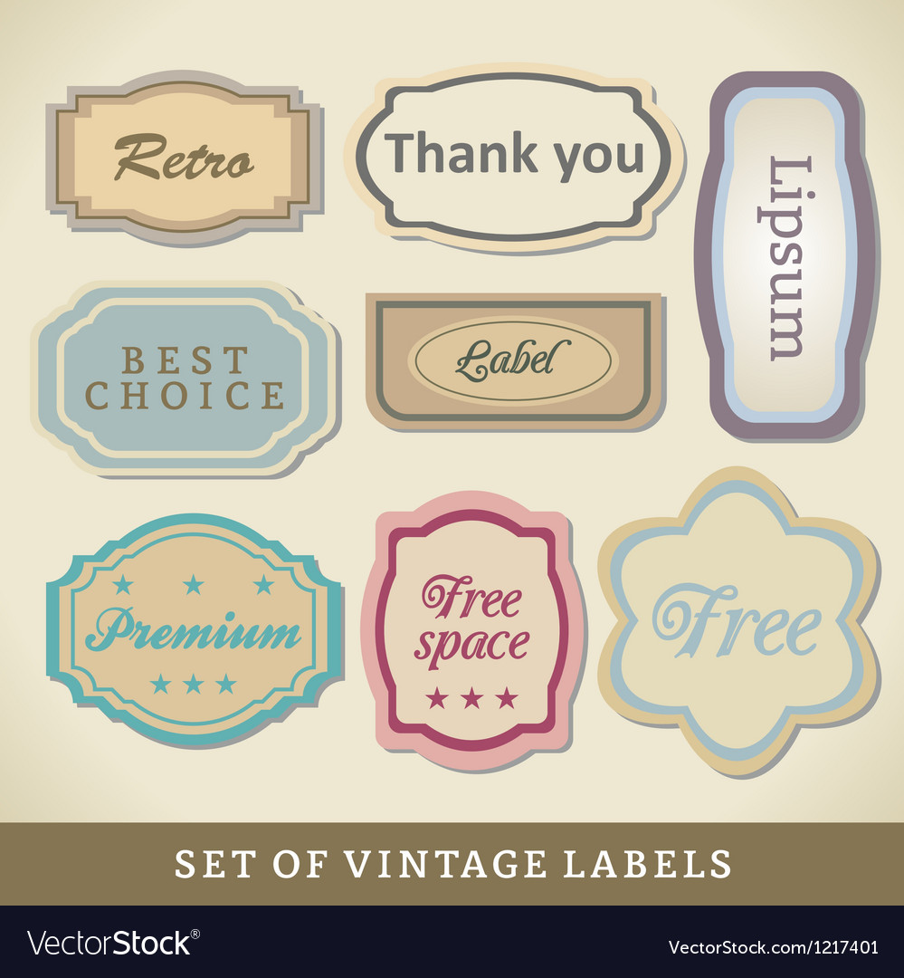 Blank vintage design cards vector | Price: 1 Credit (USD $1)