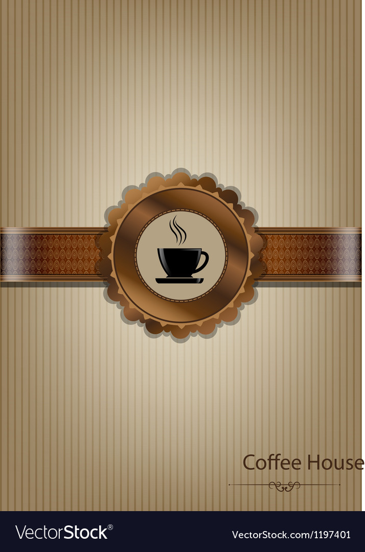 Brown coffee house menu design vector | Price: 1 Credit (USD $1)