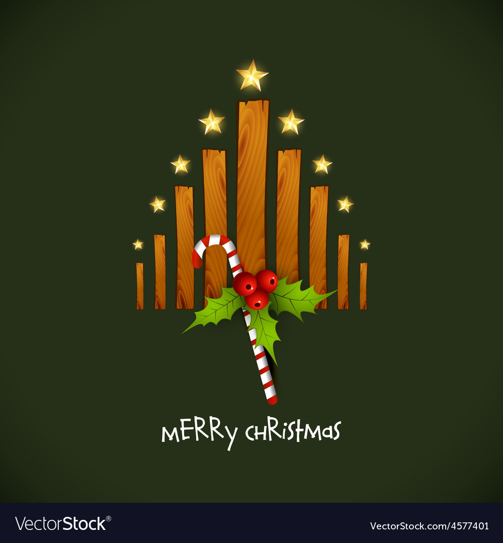Creative christmas tree with wood vector | Price: 1 Credit (USD $1)