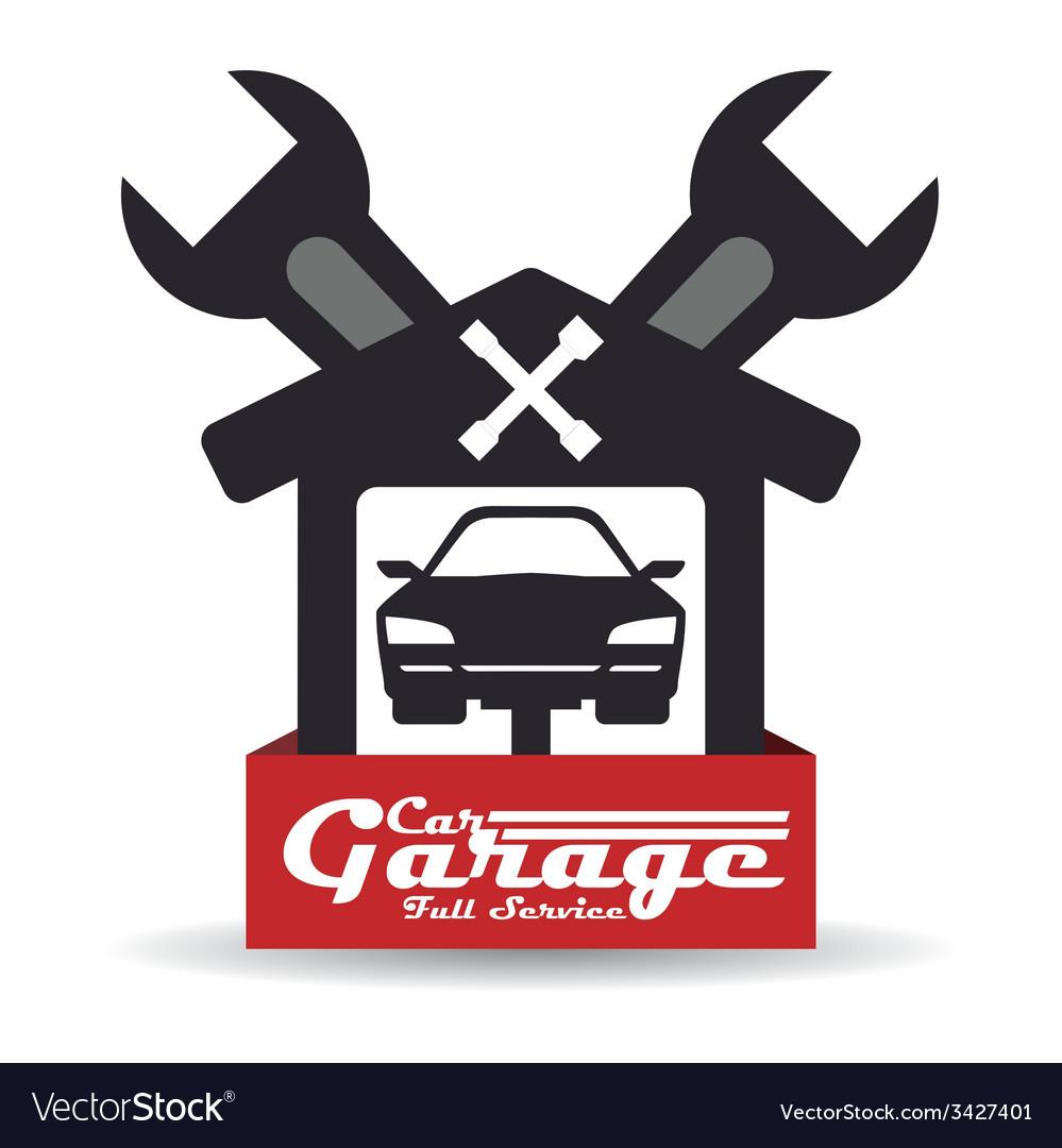 Garage design vector | Price: 1 Credit (USD $1)