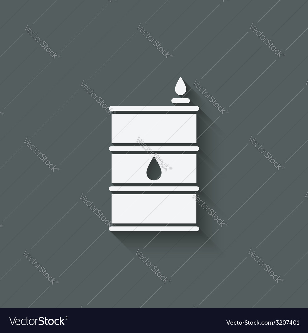 Gasoline barrel symbol vector | Price: 1 Credit (USD $1)