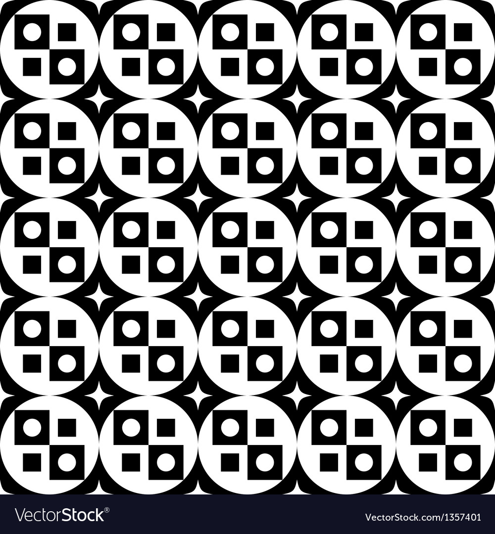 Geometric black and white seamless pattern vector | Price: 1 Credit (USD $1)