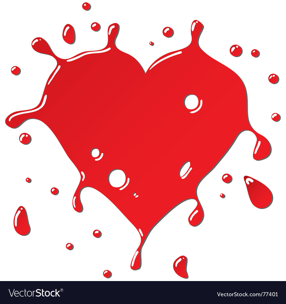 Heart as red drops form vector | Price: 1 Credit (USD $1)