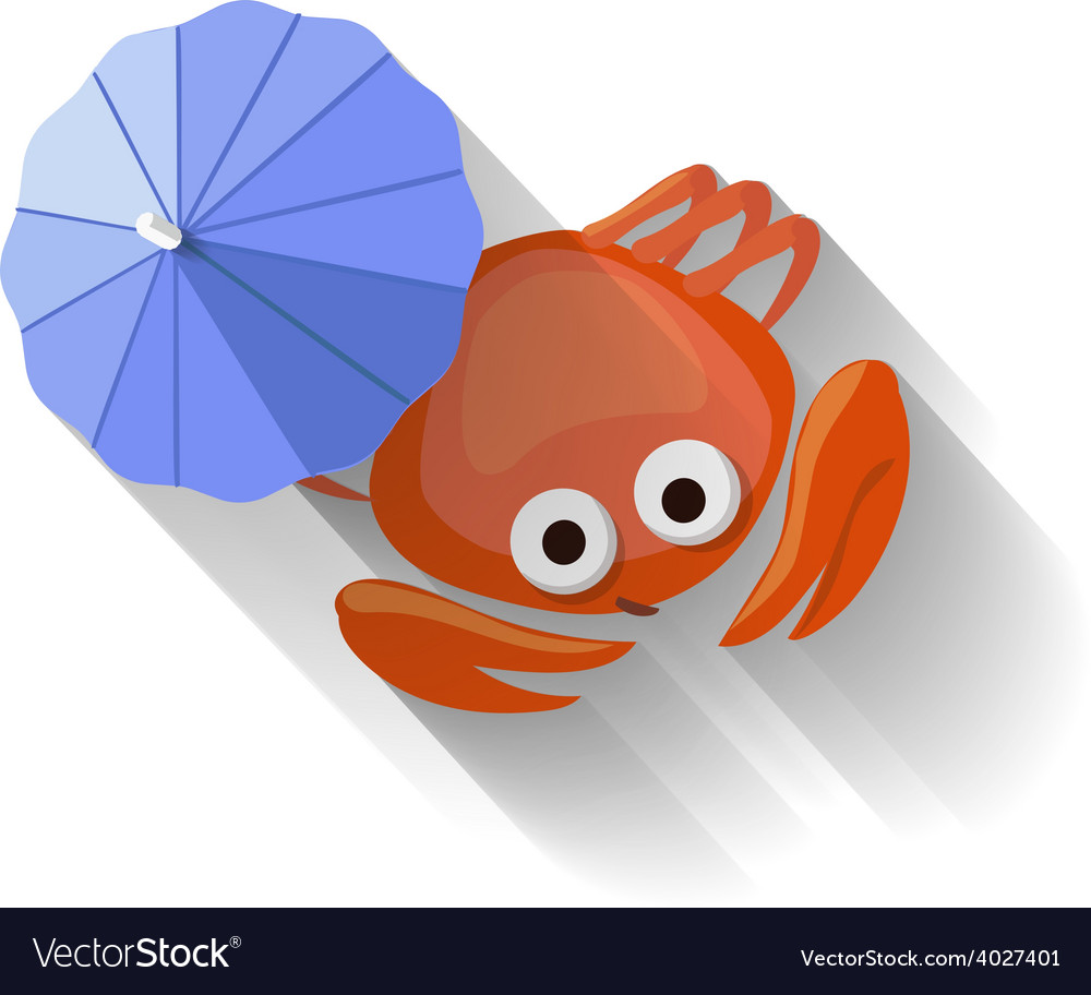 Modern flat design crab icon vector | Price: 1 Credit (USD $1)