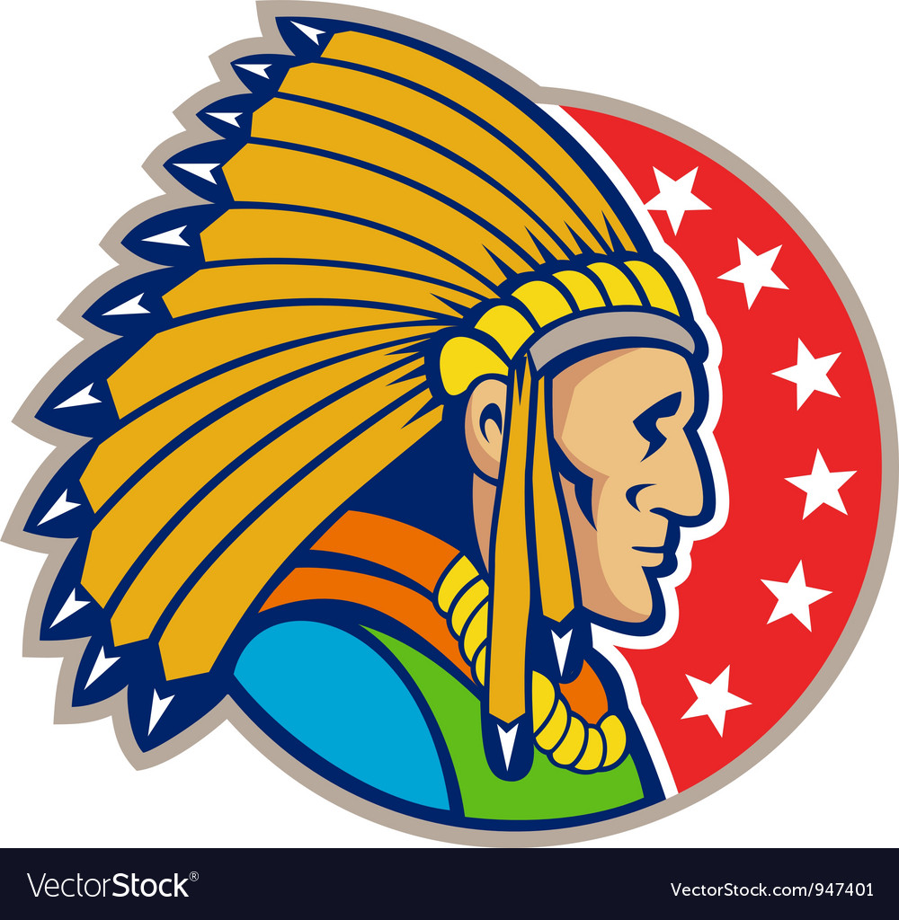 Native american indian headgear side vector | Price: 1 Credit (USD $1)