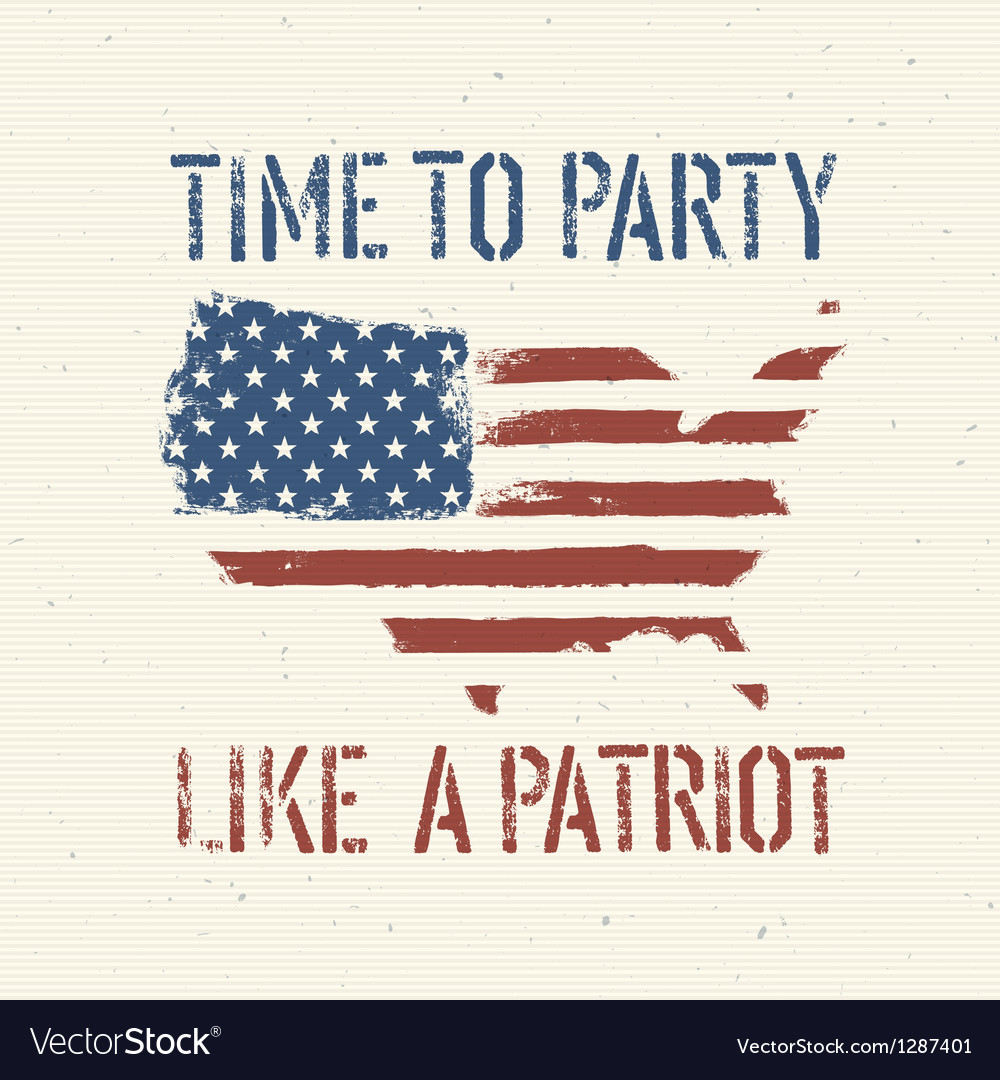 Patriot party independence day vector | Price: 1 Credit (USD $1)