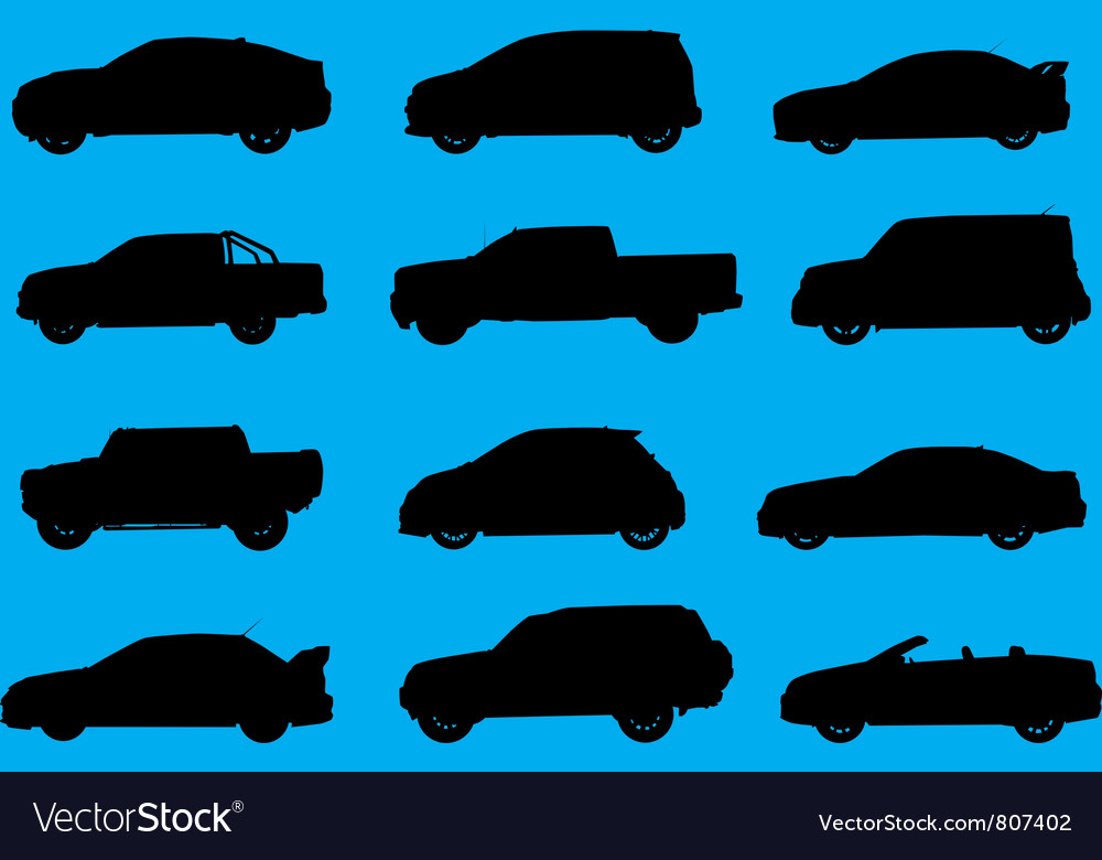 Cars silhouettes part 4 vector | Price: 1 Credit (USD $1)