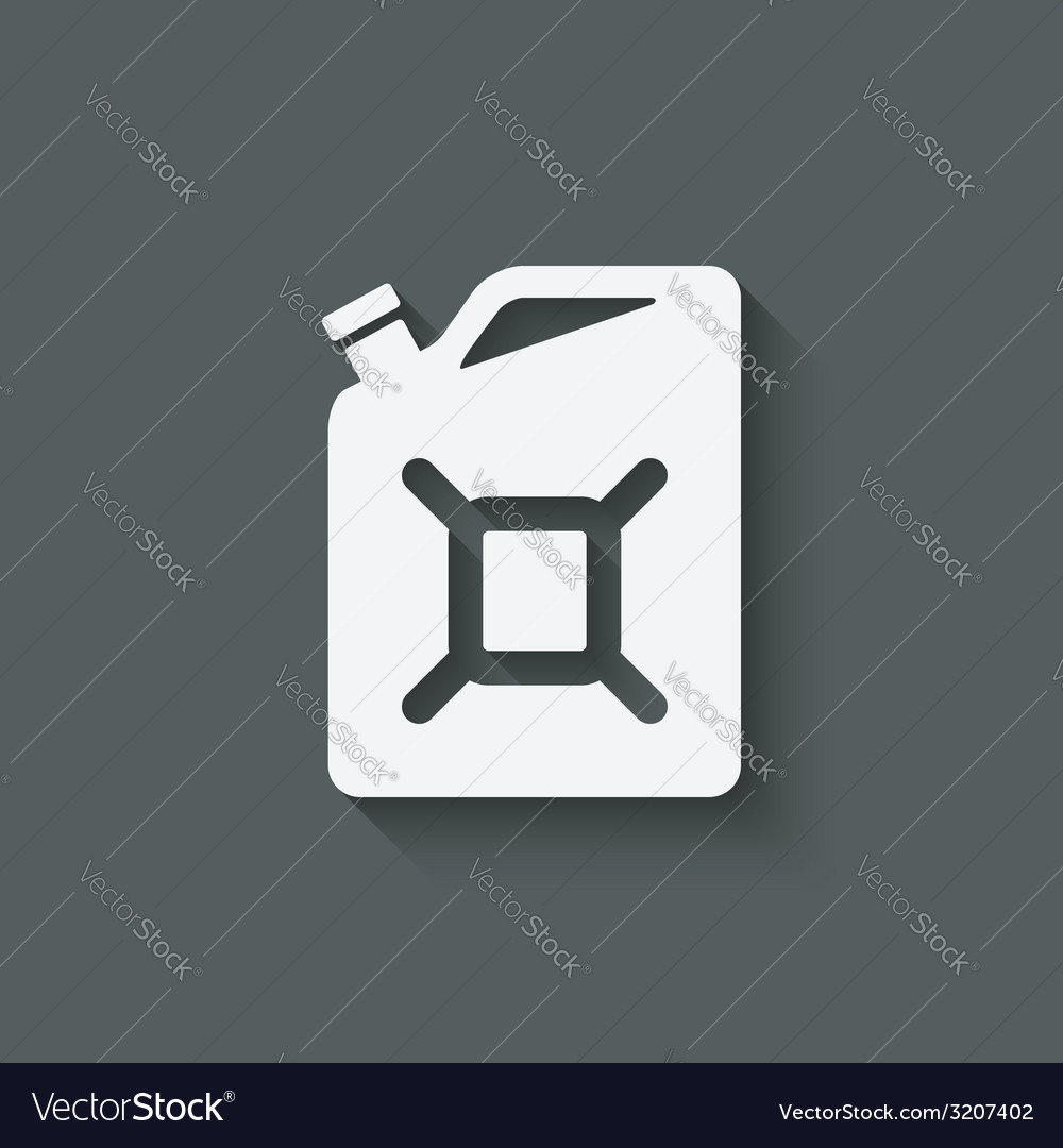 Gasoline canister symbol vector | Price: 1 Credit (USD $1)