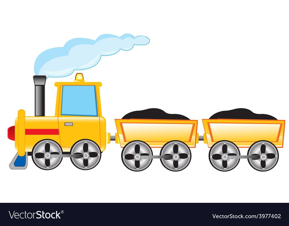 Locomotive carries cargo vector | Price: 1 Credit (USD $1)