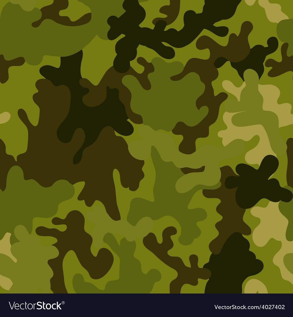 Military army seamless pattern camouflage vector | Price: 1 Credit (USD $1)