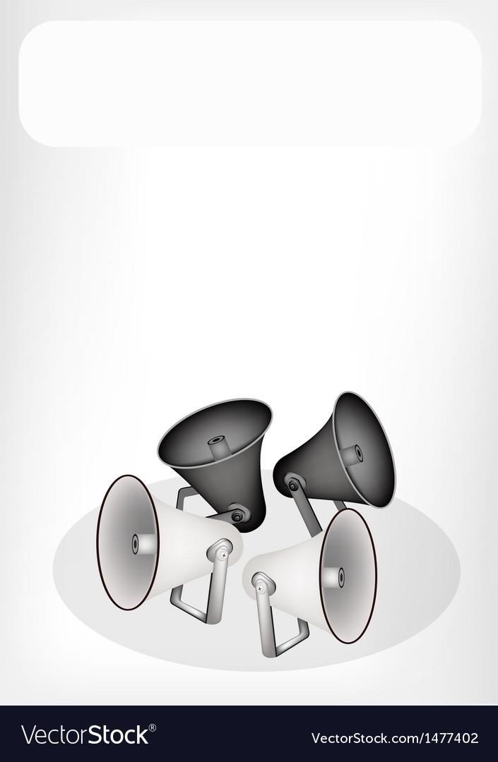 Retro megaphone banner vector   Price: 1 Credit (USD $1)
