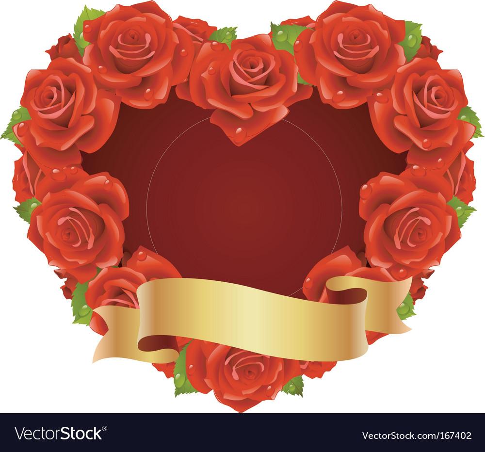 Rose frame vector | Price: 3 Credit (USD $3)