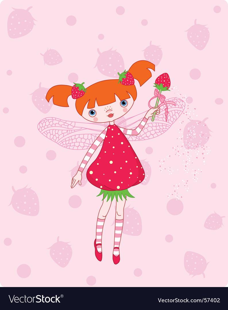Strawberry fairy vector | Price: 3 Credit (USD $3)