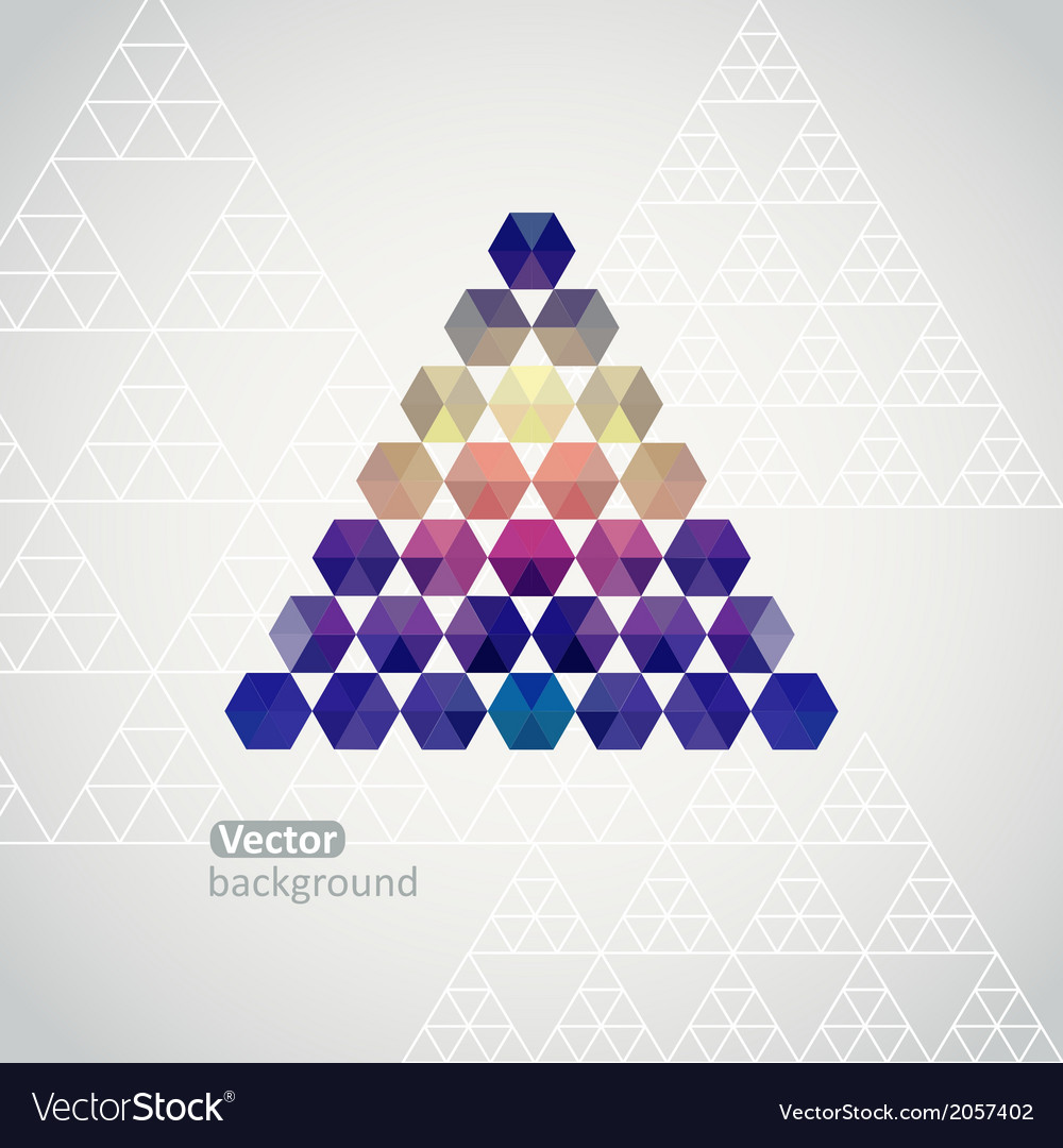 Triangle triangle background with plenty sp vector | Price: 1 Credit (USD $1)