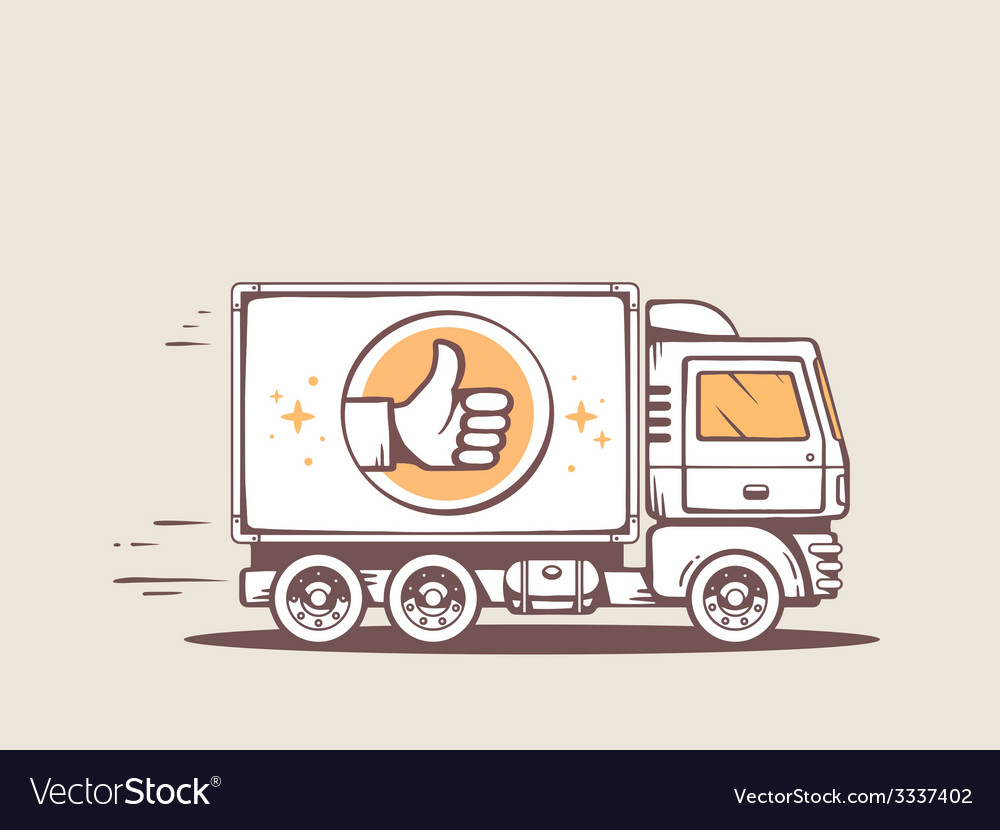 Truck best delivery of goods to customer vector | Price: 3 Credit (USD $3)