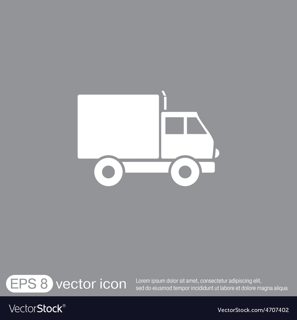 Truck logistic icon symbol icon laden truck vector | Price: 1 Credit (USD $1)