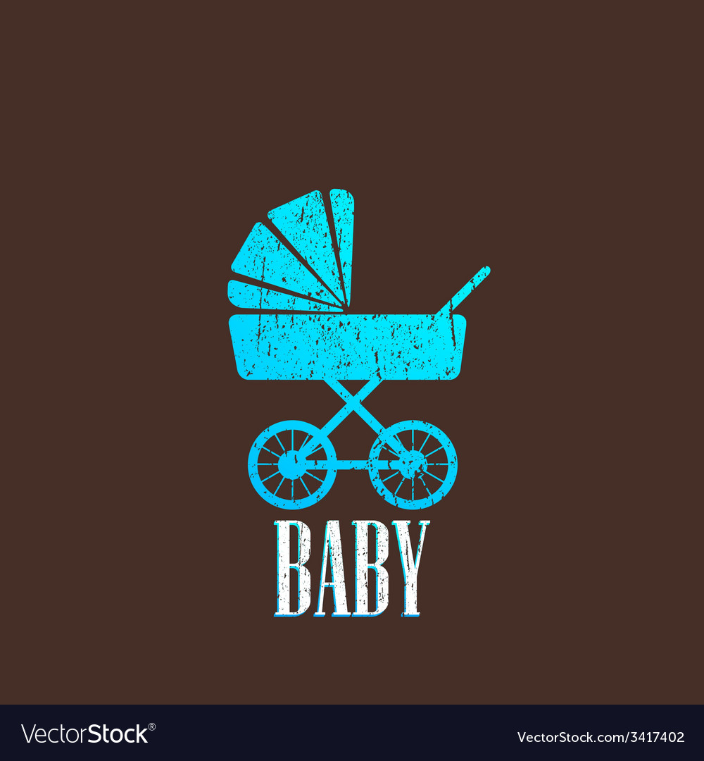 Vintage with a baby pram vector | Price: 1 Credit (USD $1)