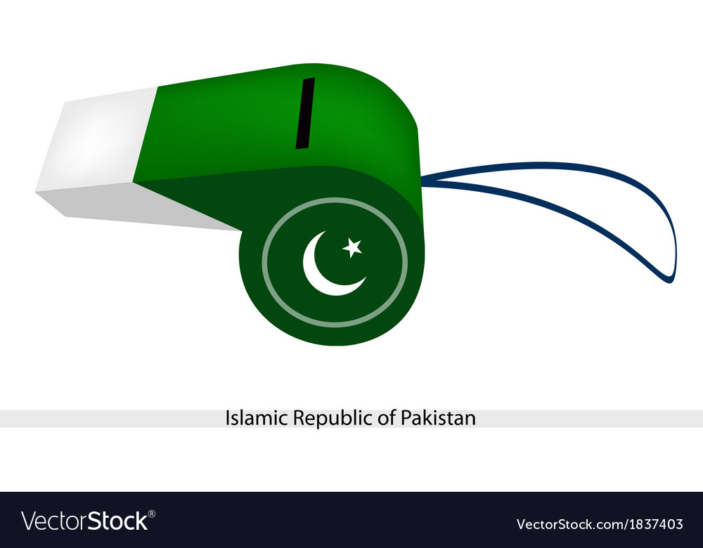 A whistle of islamic republic of pakistan vector | Price: 1 Credit (USD $1)