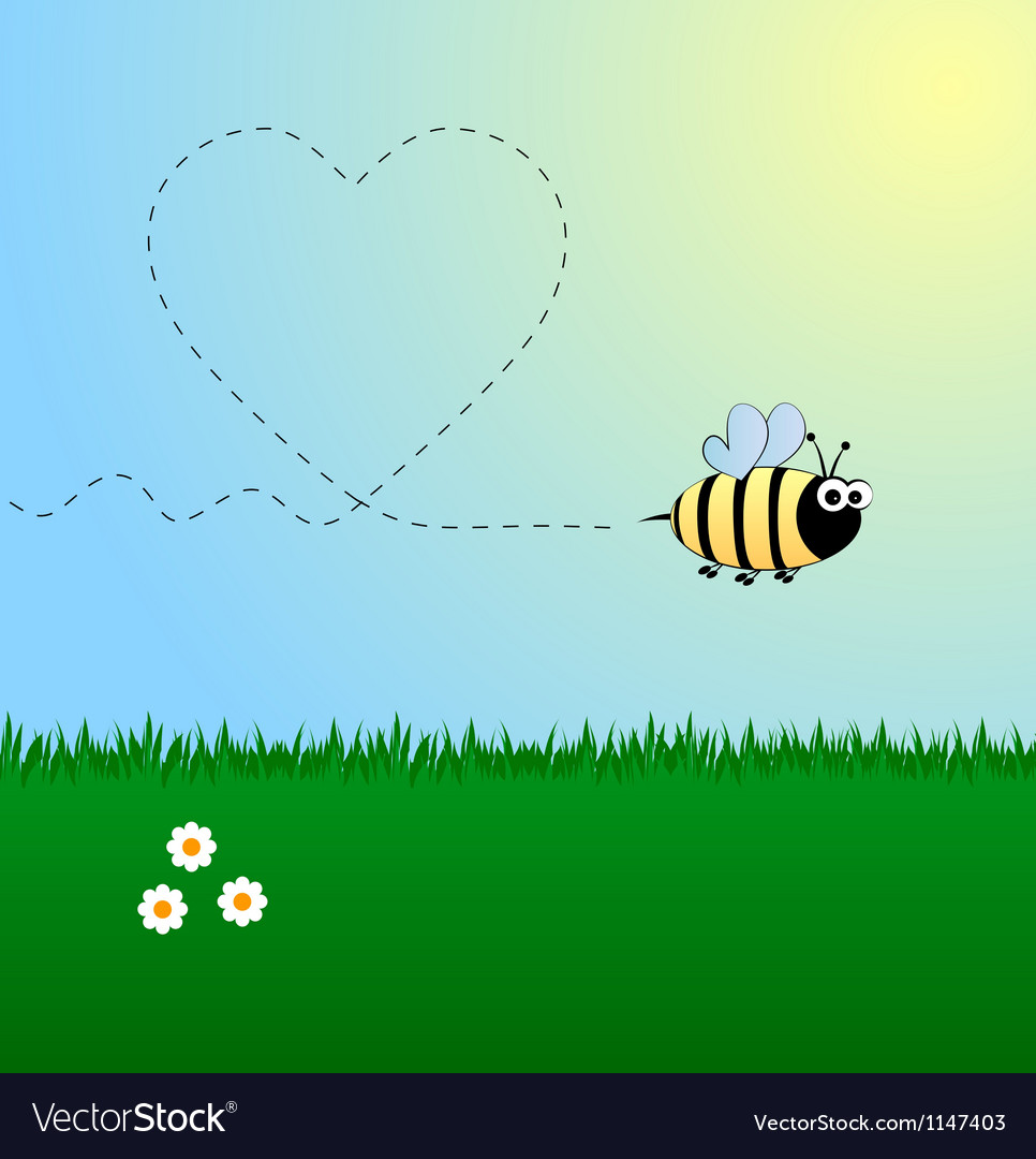 Bee in love vector | Price: 1 Credit (USD $1)