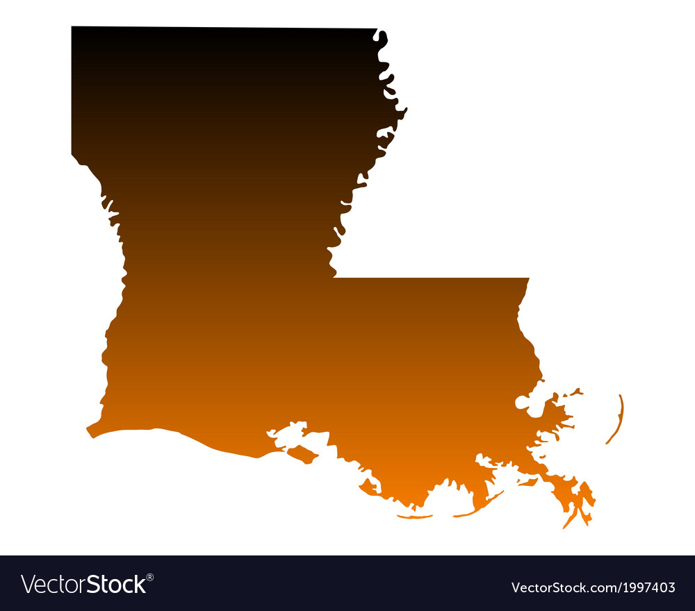 Map of louisiana vector | Price: 1 Credit (USD $1)