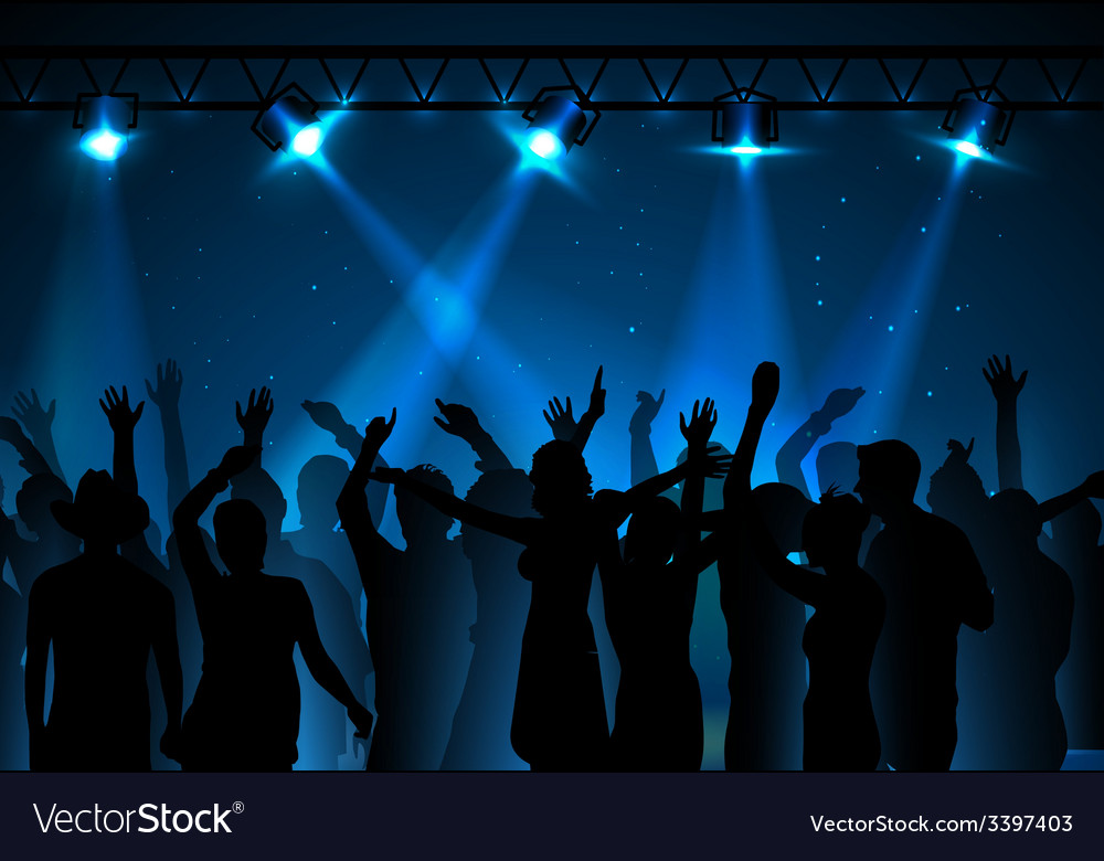Neon disco background dancing people vector | Price: 3 Credit (USD $3)