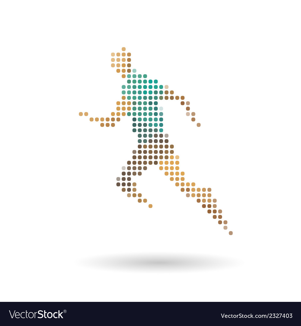 Sports man running vector | Price: 1 Credit (USD $1)