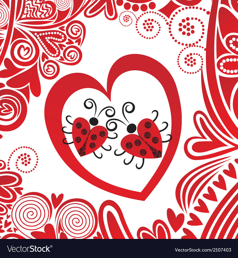 Valentines day card heart vector | Price: 1 Credit (USD $1)
