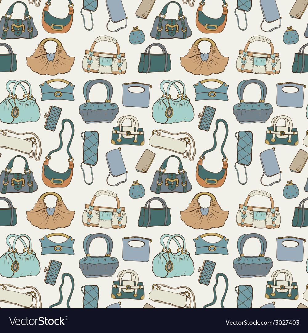 Women handbags seamless pattern vector | Price: 1 Credit (USD $1)