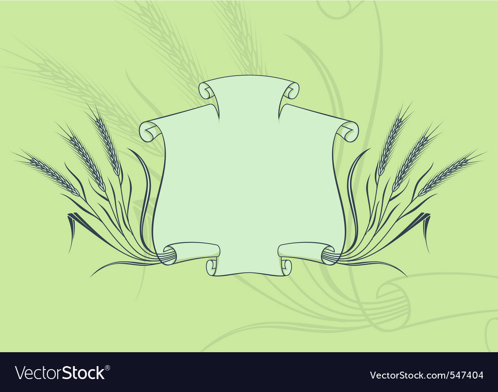 Banner with wheat green vector | Price: 1 Credit (USD $1)