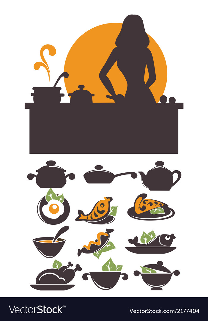 Cooking time vector | Price: 1 Credit (USD $1)