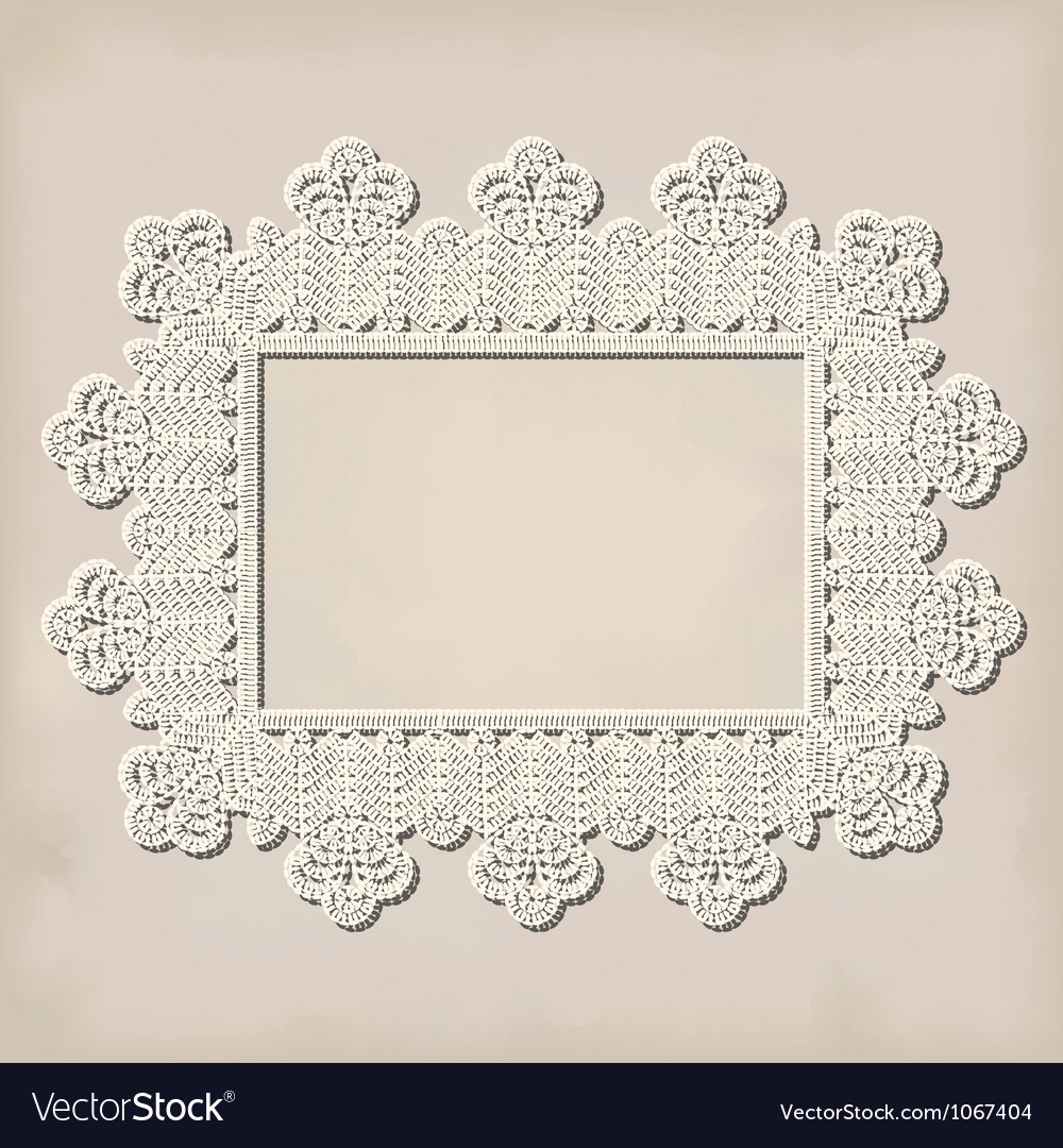 Crochet doily vector | Price: 1 Credit (USD $1)