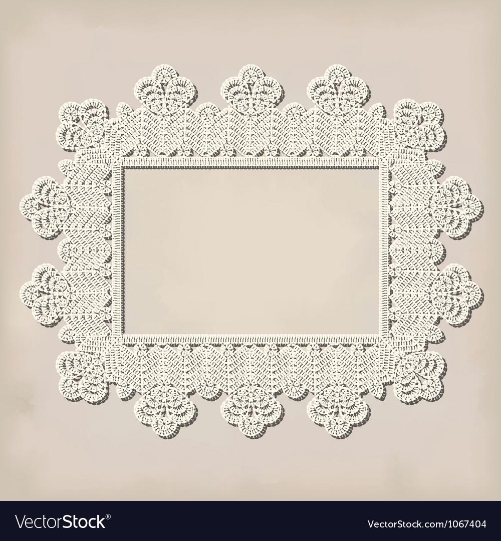 Crochet doily vector | Price: 1 Credit (USD $1)
